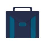 Blue briefcase icon Royalty Free Stock Photos
