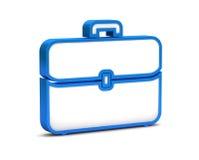 Blue briefcase icon Stock Image