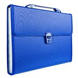 Blue briefcase isolated on white background Stock Images