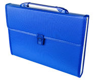 Blue briefcase isolated on white background Stock Photo