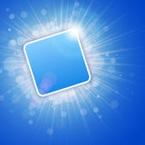 Blue Bright 3D Background with text space Royalty Free Stock Photography