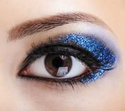 Blue bright make-up stock image