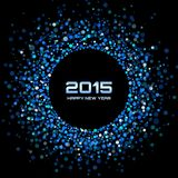 Blue Bright New Year 2015 Background. Vector illustration Royalty Free Stock Photos