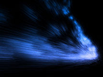 Blue bright particles emission Stock Images