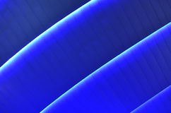 Blue bright pattern with lines. Architecture design with light and metal texture Royalty Free Stock Photography