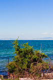 Blue Bright Sea View With Islands On The Horizon Royalty Free Stock Photo