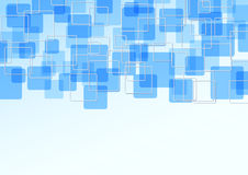 Blue bright tile particle background Stock Images