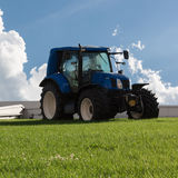 Blue Brilliant Agricultural Tractor Royalty Free Stock Photography