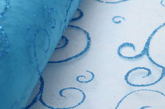 Blue brilliant decorative fabric Royalty Free Stock Image