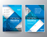 Blue Brochure annual report cover Flyer Poster design Layout template. Blue diagonal line Brochure annual report cover Flyer Poster design Layout vector template vector illustration