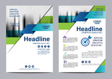 Blue Brochure Annual Report Flyer design template. Stock Image