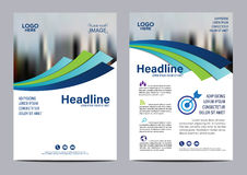 Blue Brochure Annual Report Flyer design template. Stock Images