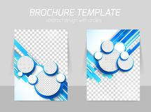 Blue brochure with circles Royalty Free Stock Photos