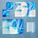 Blue brochure template Stock Photo