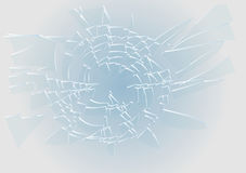 Blue broken glass. Abstract impact illustration. 10 EPS vector illustration