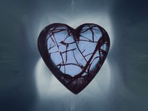 Broken hearted surrounded with smoke royalty free illustration