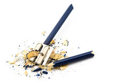 Blue broken pencil Royalty Free Stock Images