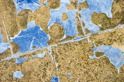 Blue broken and scarred tiles. Suitable for background stock photos