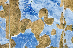 Blue broken and scarred tiles Royalty Free Stock Images