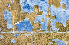 Blue broken and scarred tiles. Suitable for background royalty free stock photography