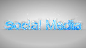 Blue broken Social Media words Stock Photo