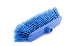 Blue broom Royalty Free Stock Photography