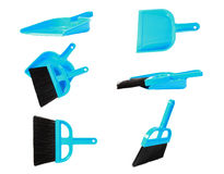 Blue brooms Royalty Free Stock Photos