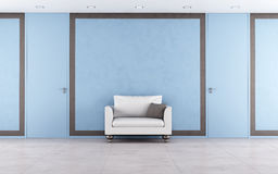 Blue and brown interior Royalty Free Stock Images