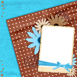 Blue and brown layout Stock Photos