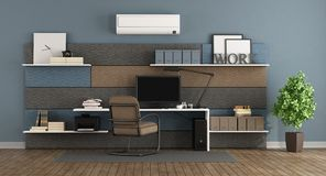 Blue and brown modern office Stock Image