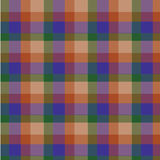 Blue brown plaid tartan pattern checked vector Stock Photography