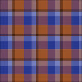 Blue brown plaid tartan pattern checked vector Royalty Free Stock Photos