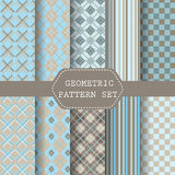 Blue  and brown scot patterns Stock Photo