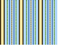 Blue and brown seamless background. Blue and brown stripes - seamless vector background Stock Photo