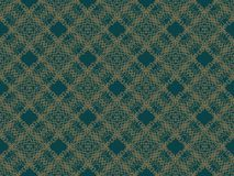 Blue and brown seamless wallpaper pattern Stock Photography