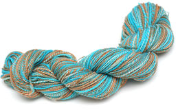 Blue and Brown Yarn Royalty Free Stock Photos
