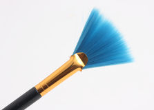 Blue brush royalty free stock photo