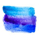 Blue brush lines. Abstract stylish watercolor background Royalty Free Stock Photo