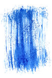 Blue brush stroke. Abstract background. Space for your own text. Raster illustration Royalty Free Stock Photography