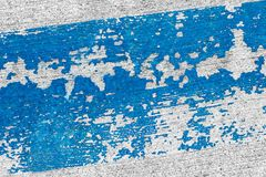 Blue brush stroke. On the concrete wall for various backgrounds Royalty Free Stock Image