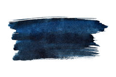 Blue brush stroke. Isolated on the white background. Space for a text Royalty Free Stock Photo