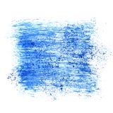 Blue brush strokes Stock Images