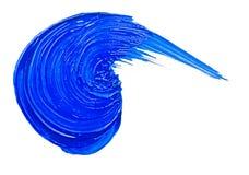 Blue brush strokes Stock Photo