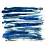 Blue brush strokes. Isolated on the white background. Element for your design Royalty Free Stock Photos