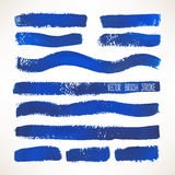 Blue brush strokes Royalty Free Stock Images