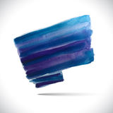 Blue brush. Vector watercolor background. Colorful watercolor texture. Vector handmade design elements. Blue flag. Vector watercolor splash Vector Illustration