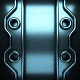 Blue brushed metal background Stock Image