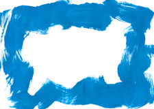 Blue brushstroke border Stock Photography