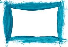 Blue brushstroke border Stock Image