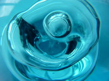 Blue bubble. Glass bubbles in blue glass paperweight Royalty Free Stock Photo